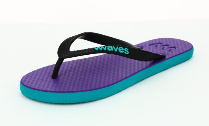 100% Natural Rubber Flip Flop – Purple and Blue Two Tone